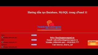 Video Tutorials   Hướng Dẫn Tạo File Database MySQL Trong Hosting   Cộng đồng Joomla! Việt Nam
