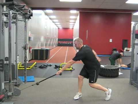 Hockey Training Standing Rotational Cable Lift