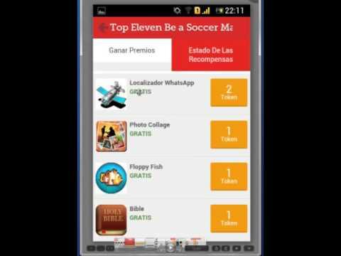 Top Eleven - Cómo ganar tokens gratuitamente desde el móvil