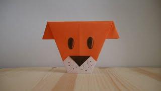 Оригами. Как сделать собаку из бумаги (видео урок)