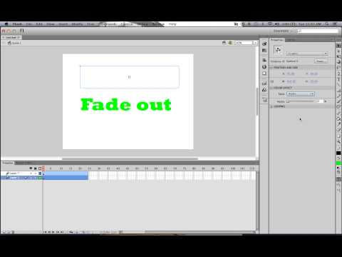 Fading symbols in and out using Adobe Flash CS6 (Mac)