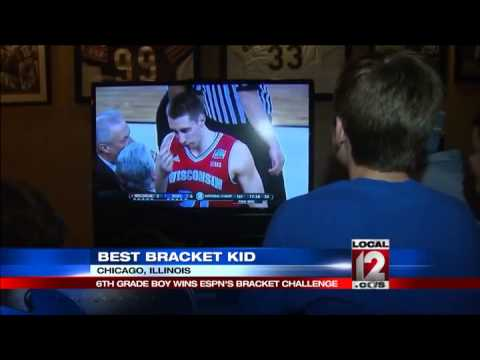 6th grader tops nation in ESPN bracket challenge
