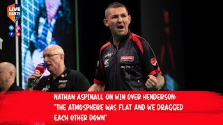 """Nathan Aspinall on win over Henderson: """"The atmosphere was flat and we dragged each other down"""""""