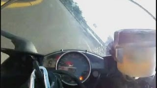 9. 2007 YAMAHA YZF-R6... Acceleration & winding corner onboard movie