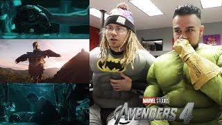AVENGERS 4 ENDGAME REACTION! 😍REACTING TO Avengers 4 ENDGAMES - Official Trailer