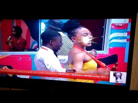 BBNaija Housemate Dancing To One Corner
