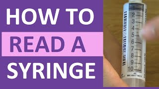 Learn how to read a syringe: This video will explain how to read different nursing syringe sizes such as the 3 mL, 1 mL, 5 mL, 10 mL, and Insulin syringes (100 units).As the nurse, it is very important you know how to correctly read a syringe when drawing up medications.A syringe consists of various parts such as the adapter (which is where you draw up and injection the medication), barrel (which has a scale on it that allows you to measure the medication), plunger (which assists in drawing up and measuring the medication).Syringes consist of different measuring scales. For example, most 3 mL syringes measure each line as 0.1 mL, while 1 mL syringes measure each line as 0.01 mL. A 3 mL syringe is best for giving medications that require you draw up 0.5 mL of a medication. While a 1 mL syringe is best for giving medications that require you draw up small amounts like 0.25 mL. Notes: http://www.registerednursern.com/how-to-read-a-syringe/More Nursing Skill Videos: https://www.youtube.com/playlist?list=PLQrdx7rRsKfUhd_qQYEbp0Eab3uUKhgKbSubscribe: http://www.youtube.com/subscription_center?add_user=registerednursernNursing School Supplies: http://www.registerednursern.com/the-ultimate-list-of-nursing-medical-supplies-and-items-a-new-nurse-student-nurse-needs-to-buy/Visit our website RegisteredNurseRN.com for free quizzes, nursing care plans, salary information, job search, and much more: http://www.registerednursern.comCheck out other Videos: https://www.youtube.com/user/RegisteredNurseRN/videosAll of our videos in a playlist: https://www.youtube.com/watch?v=pAhHxt663pU&list=PLQrdx7rRsKfXMveRcN4df0bad3ugEaQnkPopular Playlists:NCLEX Reviews: https://www.youtube.com/playlist?list=PLQrdx7rRsKfWtwCDmLHyX2UeHofCIcgo0Fluid & Electrolytes: https://www.youtube.com/playlist?list=PLQrdx7rRsKfWJSZ9pL8L3Q1dzdlxUzeKvNursing Skills: https://www.youtube.com/playlist?list=PLQrdx7rRsKfUhd_qQYEbp0Eab3uUKhgKbNursing School Study Tips: https://www.youtube.com/playlist?list=PLQrdx7rRsKfWBO4