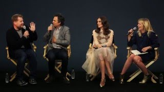 Begin Again  Cast Interview With Mark Ruffalo  Kiera Knightley  James Corden