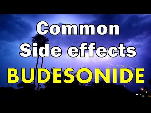 some common side effects of budesonide