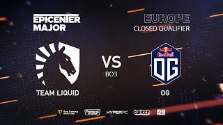 OG vs Team Liquid, EPICENTER Major 2019 EU Closed Quals , bo3,game 3 [Mila & Inmate]