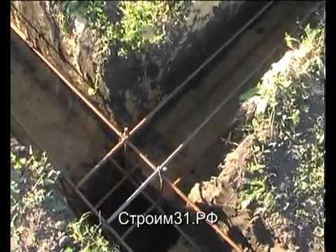 Видео по правильному заложению фундамента