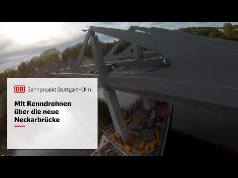 Neckarbrücke - mit Highspeed über den Neckar