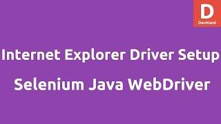 Internet Explorer Driver setup on Windows
