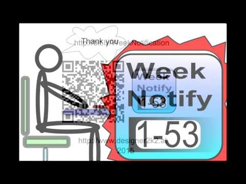 Video of Calender Week Number