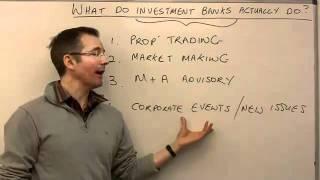 ¿Cuál es la función de los Bancos de Inversión?