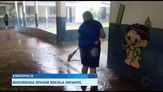 Escola Infantil é invadida pela água em Areiópolis