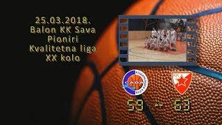 kk sava kk crvena zvezda mts 59 63 (pioniri, 25 03 2018 ) košarkaški klub sava