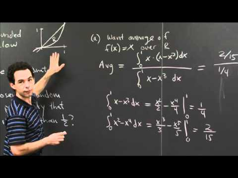 Average x-Coordinate in a Region | MIT 18.01SC Single Variable Calculus, Fall 2010