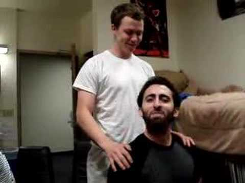 sleeper hold - Friend takes a sleeper willingly in the dorm...