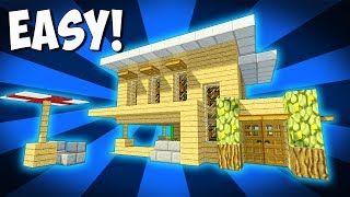 Minecraft: How to Build a Beach Starter House - Starter House Tutorial