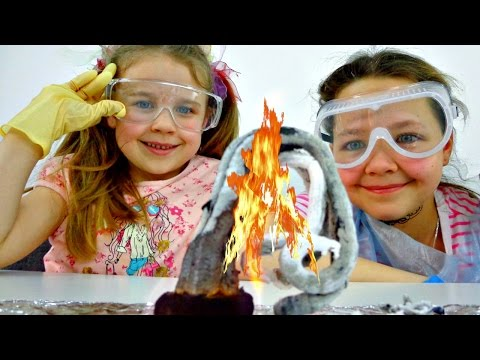 Интересное детям. Ксюша, Настя, Вова и ЗМЕЙ ГОРЫНЫЧ. Опыты для детей (видео)