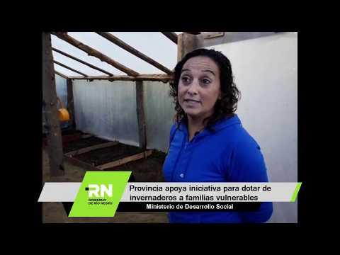 Provincia apoya iniciativa para dotar de invernaderos a familias vulnerables