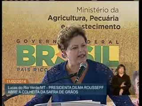 No Mato Grosso, presidenta Dilma participa da abertura oficial da colheita da safra 2013/2014