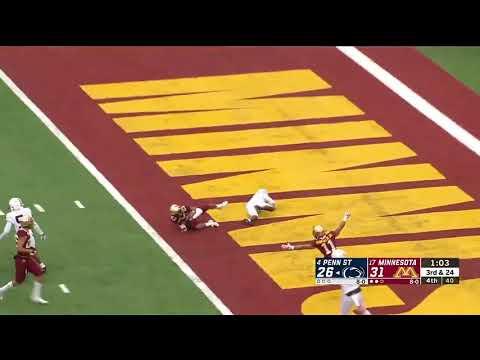 Jordan Howden Game Sealing Interception   Minnesota vs Penn State