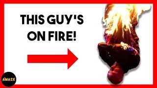 Burning Straightjacket Escape Stuns Stephen Mulhern | Next Great Magician EP 1 | AMAZE