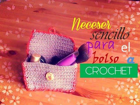 Neceser para el bolso a crochet (diestro)