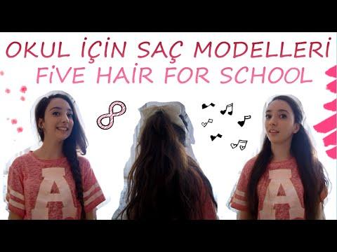 Okul İçin Saç Modelleri / 5 Hair For School