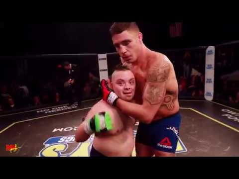 MMA Fighter Diego Sanchez competes in an MMA fight with an Athletewho has Down Syndrome, so he could achieve his dream of fighting in the Cage.