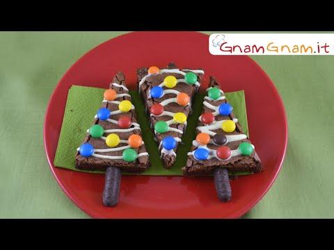 alberelli di natale brownies - la videoricetta
