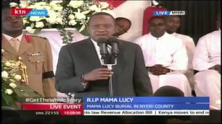 President Uhuru Kenyatta's Tribute To Late Former First Lady Lucy Kibaki During Funeral Service