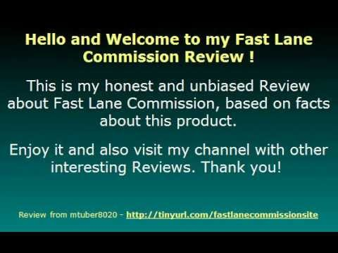 Video: Fast Lane Commission Review – all what you need to start or expand your Affiliate Marketing