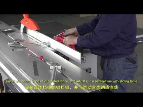 Sliding Table Saw (Panel Saw) Installation&Working Video