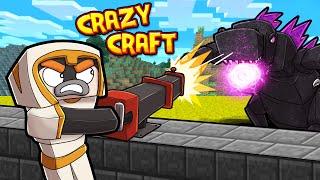 Protecting SERVER from GODZILLA! (Crazy Craft 4.0) #9