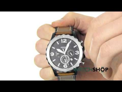 , title : 'Fossil Men's Nate Chronograph Watch (JR1504)'