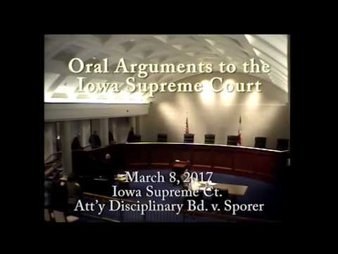 Image of 16-1441 Iowa Supreme Ct. Att'y Disciplinary Bd. v. Sporer