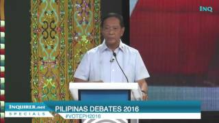 Jejomar Binay debate final word: Gov't should spend more to fight poverty