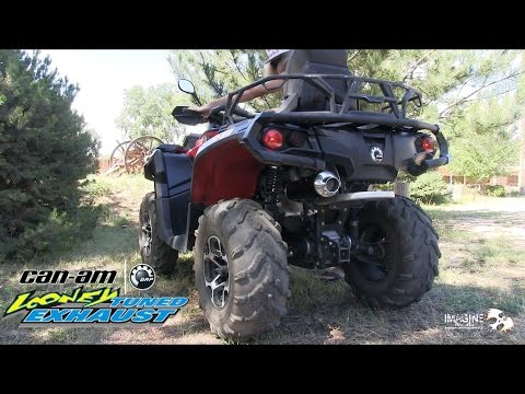 Can Am Outlander With Looney Tuned Exhaust