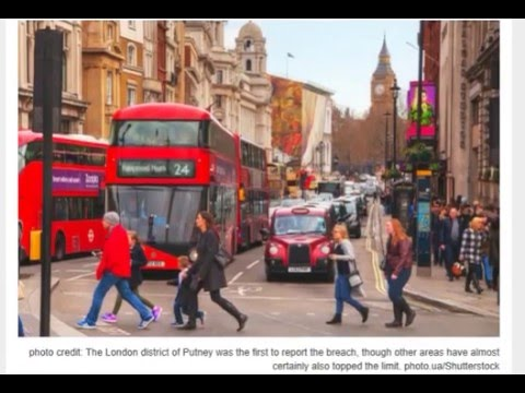 London Breaches Yearly Pollution Limit After Just Eight Days