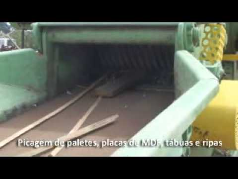 Reciclagem de Madeira com o Picador Lippel PTL 240x600 ROLL ON