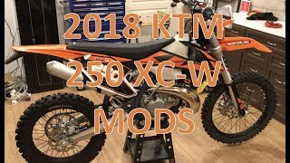 8. 2018 KTM 250 XC-W Modifications and Upgrades