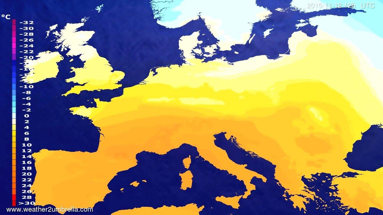 Temperature forecast Europe 2015-11-10