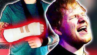 ¡Ed Sheeran Se Accidenta!