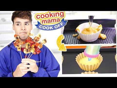 Following COOKING MAMA Recipes In REAL LIFE: Chicken Skewers & Cupcakes