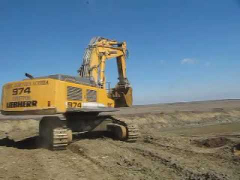 LIEBHERR TRACK EXCAVATORS R 974 C LITRONIC HD-SL equipment video _Vdf1JpoPuY