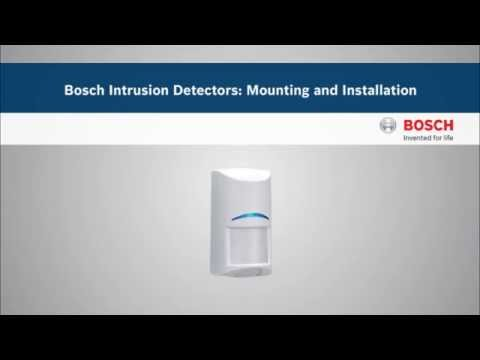 Bosch Intrusion Detectors: Mounting and Installation
