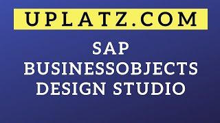 SAP BO Design Studio | SAP BusinessObjects Business Intelligence Suite Tutorial and Training Course